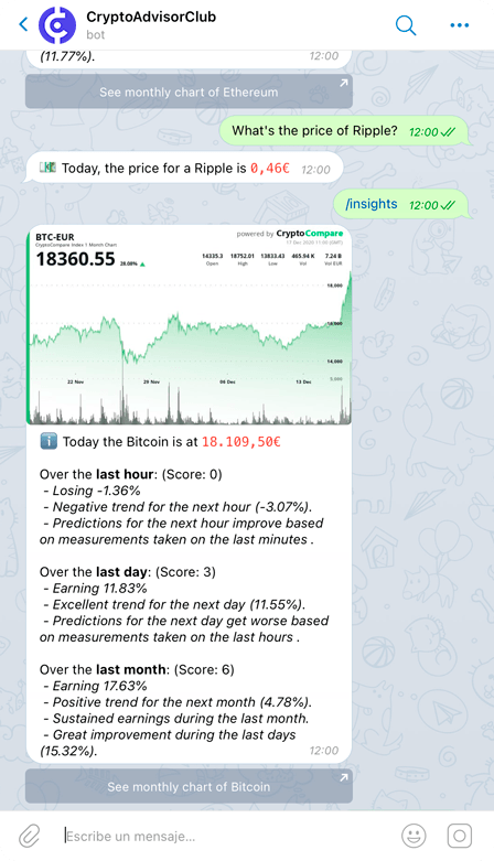 CryptoAdvisor.Club bot screenshot